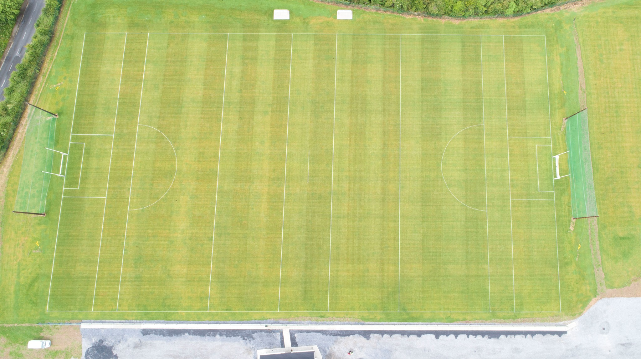 Carrick Swan New Field, Pairc na nEalai from the air